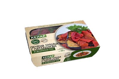Печена чушка с патладжан Кенар и доматен сос