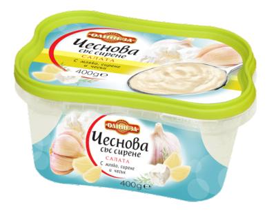 Салата Чеснова със сирене ОЛИНЕЗА