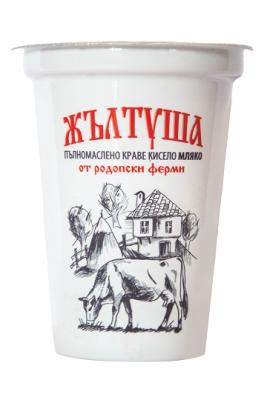 Кисело мляко Жълтуша 4% фермерско