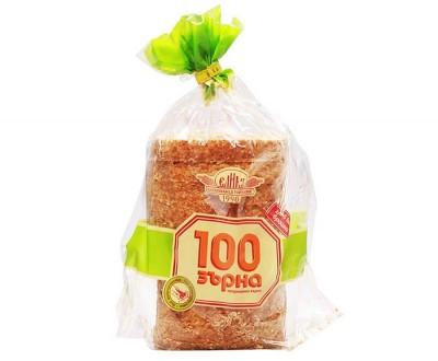 Хляб без брашно 100 зърна, нарязан