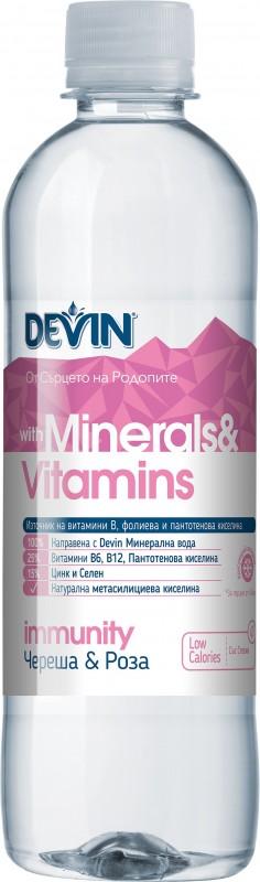 Вода Devin Minerals & Vitamins череша и роза