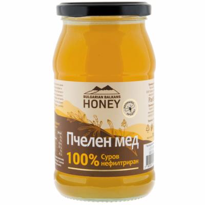 Мед Пчелен 100% суров нефилтриран BULGARIAN BALKANS HONEY