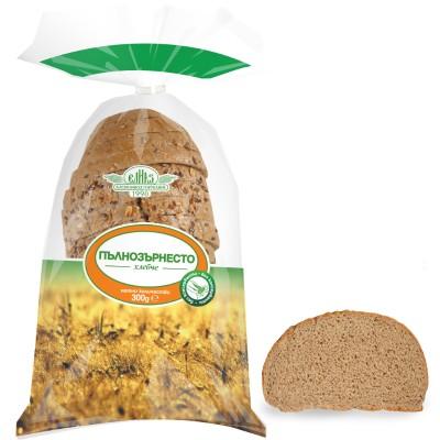 Пълнозърнесто хлебче, нарязано