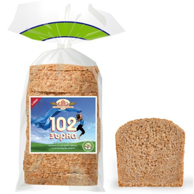 Хляб 102 зърна, нарязан
