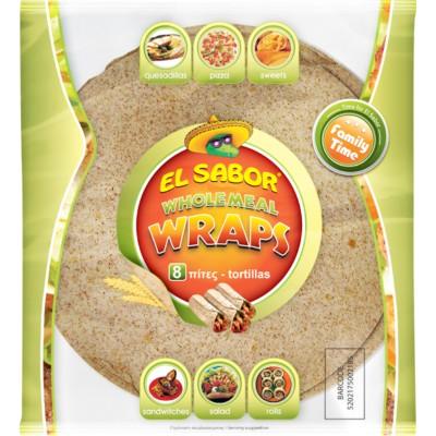 Пълнозърнеста тортила El Sabor 20 см