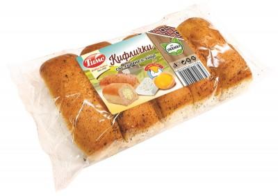 Кифлички Тимс със сирене и яйца
