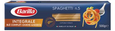 Спагети пълнозърнести №5 Barilla