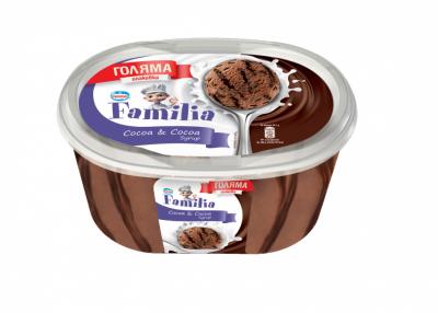 Сладолед Familia какао и какаов сироп