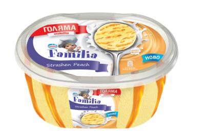 Сладолед Familia праскова