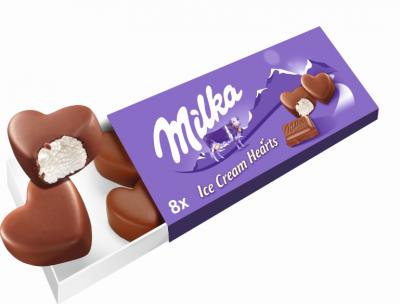 Сладолед Milka малки хапки
