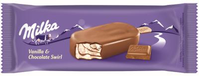 Сладолед Milka ванилия с шоколад