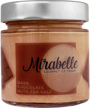 Гурме сладолед Mirabelle Черен Белгийски шоколад с Морска сол