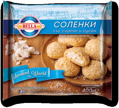 Соленки Белла със сирене и сусам