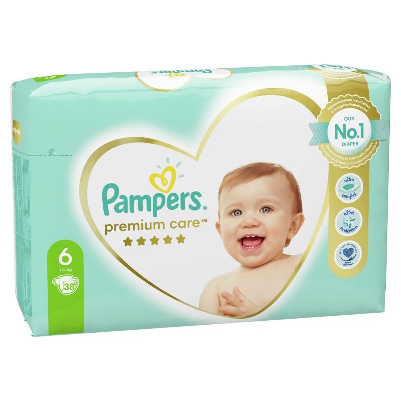 Бебешки пелени Pampers Premium Care S6 XL 13+ кг