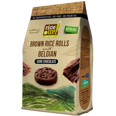 Мини Оризовки (бисквити) Rice Up Черен Шоколад