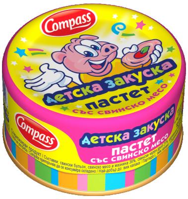 Пастет със свинско месо Детска закуска Compass