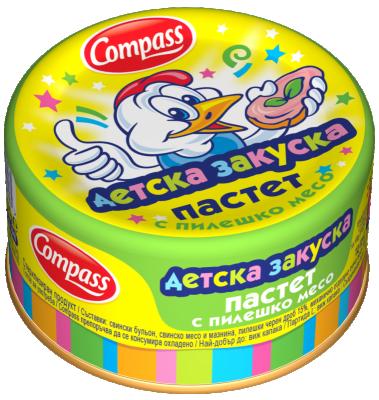 Пастет с пилешко месо Детска закуска Compass