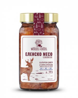 Еленско месо в собствен сос Woods Foods