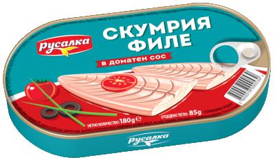 Скумрия филе в доматен сос Русалка
