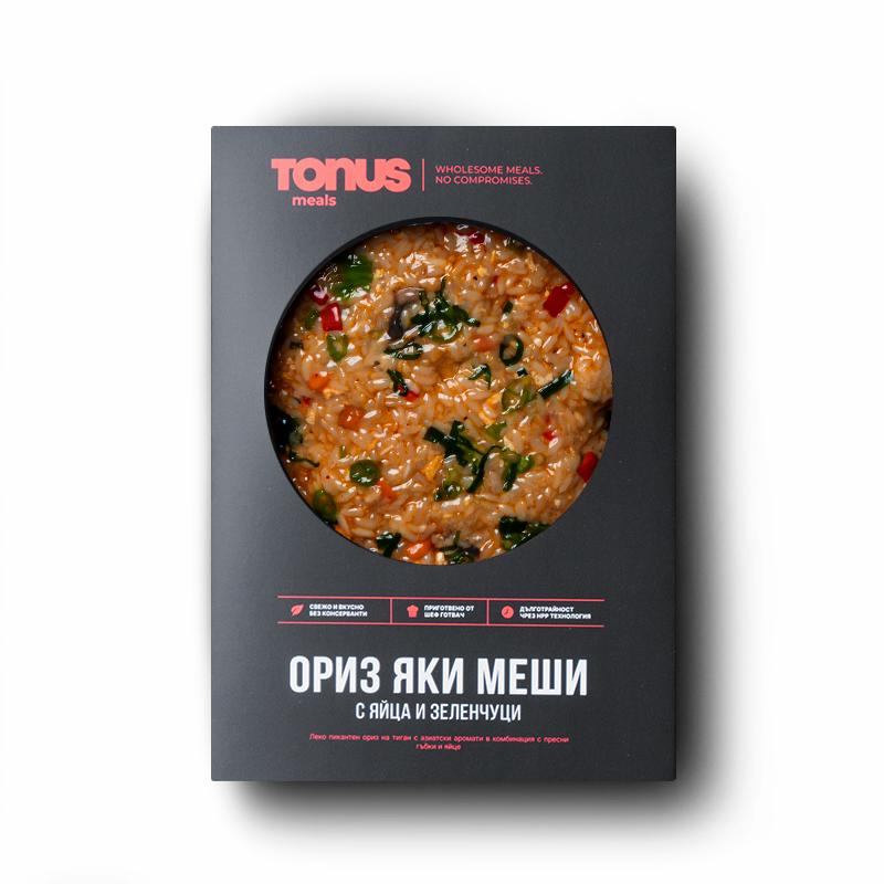 Ориз Яки меши Tonus Meals с яйца и зеленчуци