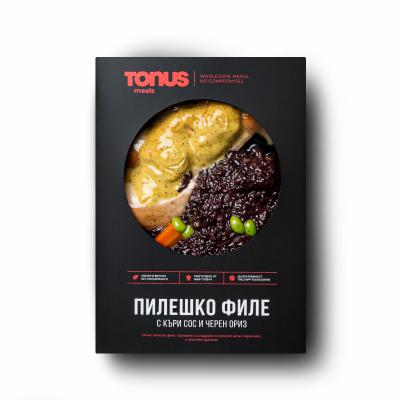 Пилешко филе Tonus Meals с къри сос и императорски ориз