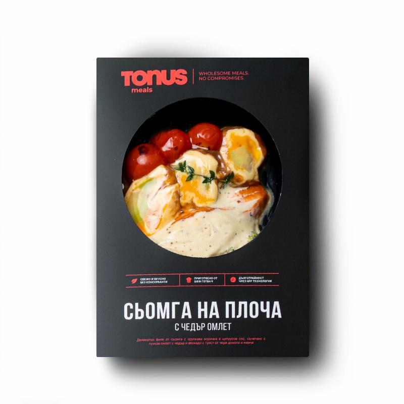 Сьомга на плоча Tonus Meals с чедър омлет
