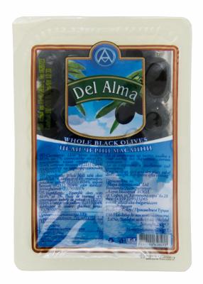 Маслини черни цели Del Alma