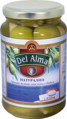 Маслини зелени с бадем Del Alma