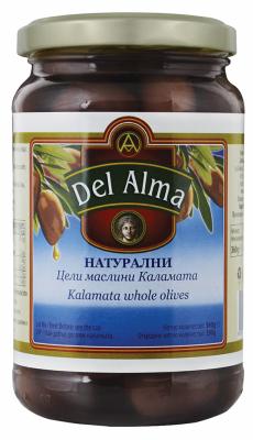 Маслини натурални цели Каламата Del Alma