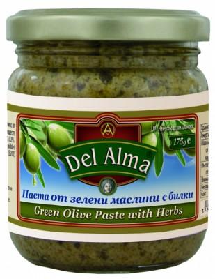 Паста от зелени маслини с билки Del Alma
