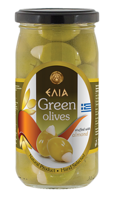 Маслини зелени с бадем ELIA