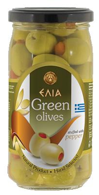 Маслини зелени с чушка ELIA