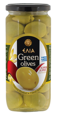 Маслини зелени супер, супер мамут ELIA
