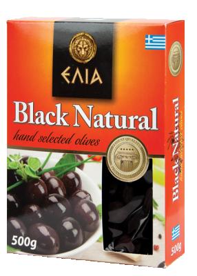 Маслини натурални черни ELIA