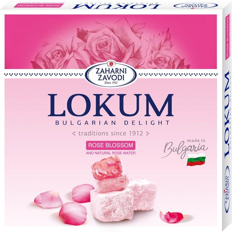 Локум Захарни заводи с розов цвят