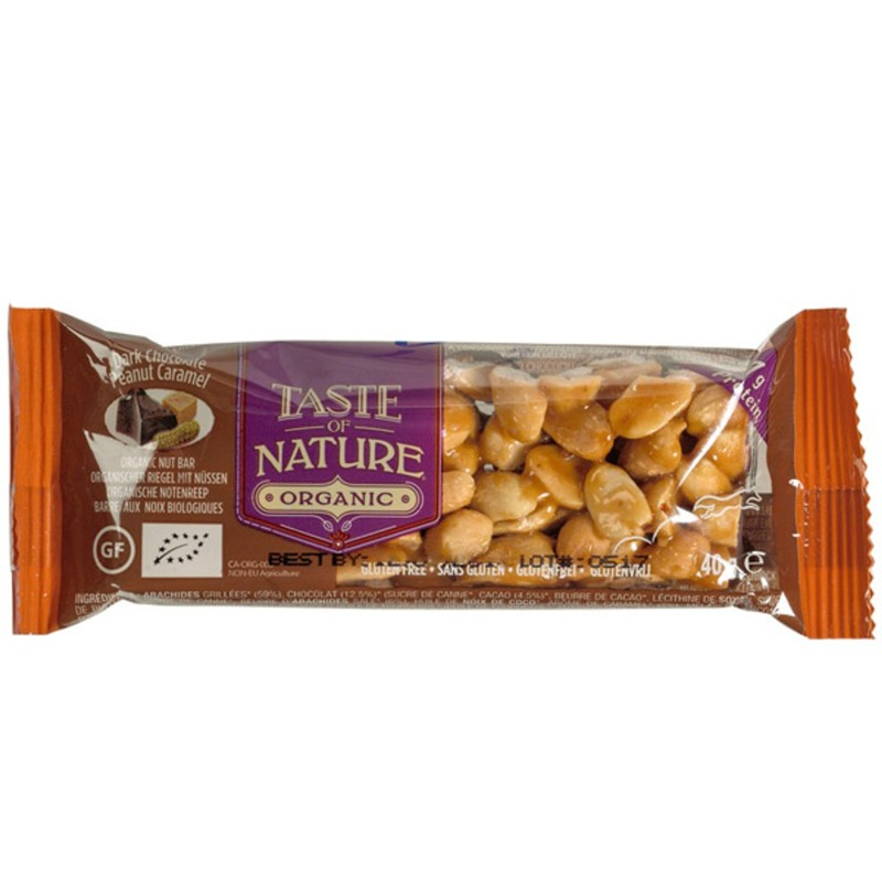 БИО Десерт Taste of Nature черен шоколад фъстък и карамел