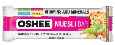 Мюсли бар с ядки, витамини и магнезий OSHEE