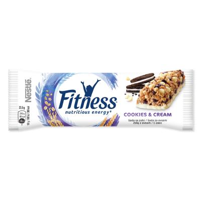 Зърнен десерт Nestle Fitness Бисквитки с парченца бял шоколад