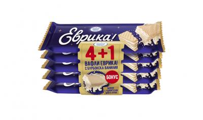 Вафла Еврика с бурбонска ванилия 4+1 бонус