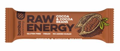 Суров бар Raw Energy с какао и какаови зърна