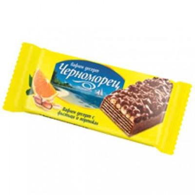 Вафлен десерт Черноморец фъстъци и портокал