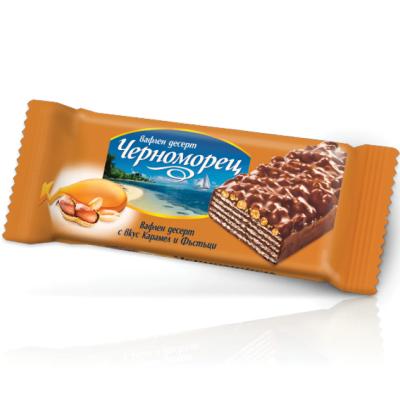 Вафлен десерт Черноморец фъстъци и карамел