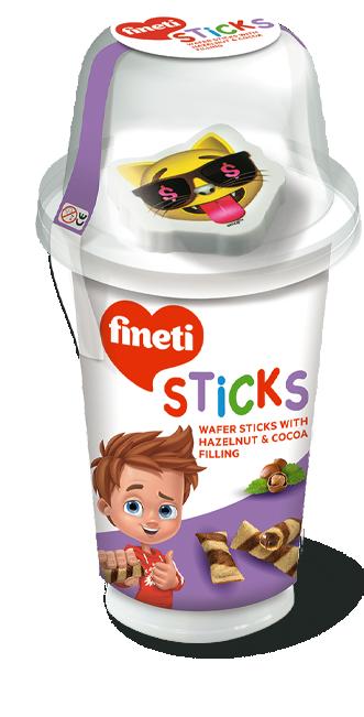 Течен шоколад с Мини вафли Fineti Dips & Sticks + Играчка