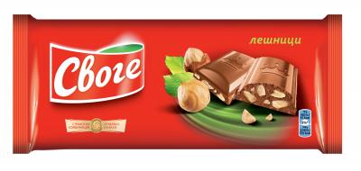 Шоколад Своге фин млечен с лешник