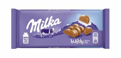 Шоколад Milka Bubbly Млечен