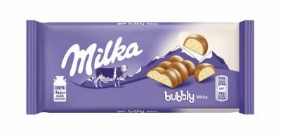 Шоколад Milka Bubbly Бял