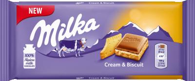 Шоколад Milka Крем Бисквита