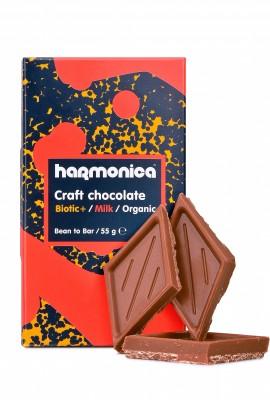 БИО Млечен шоколад Harmonica с пробиотици