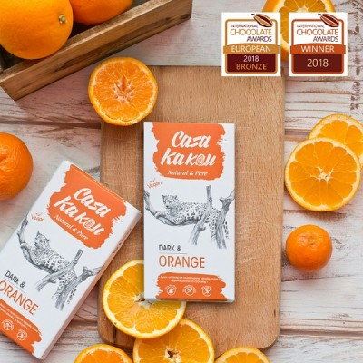 Занаятчийски, ръчен шоколад Casa Kakau Портокалови корички