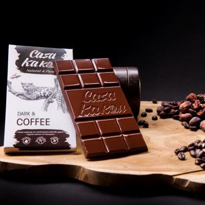 Занаятчийски, ръчен шоколад Casa Kakau цели зърна кафе